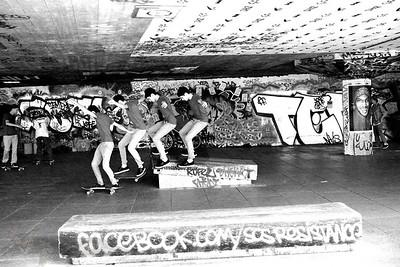 Skateboarder at Southbank