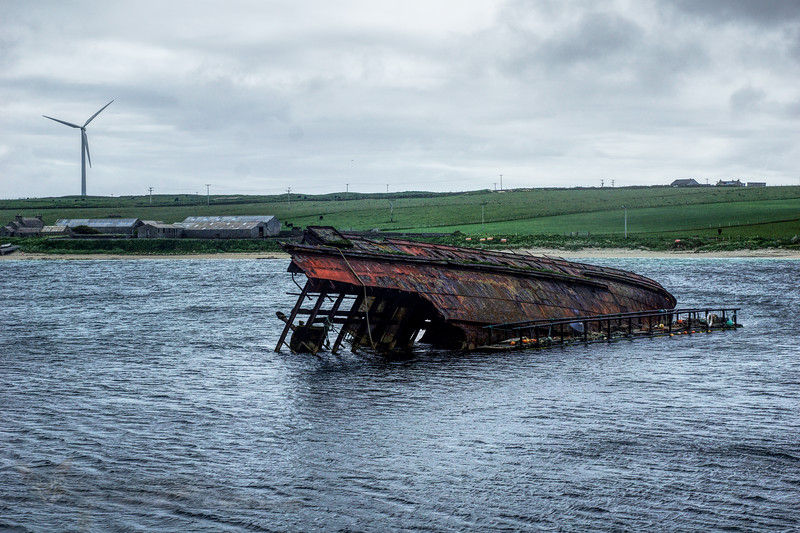 Churchill Barrier - Ship Wreck - Orkney
