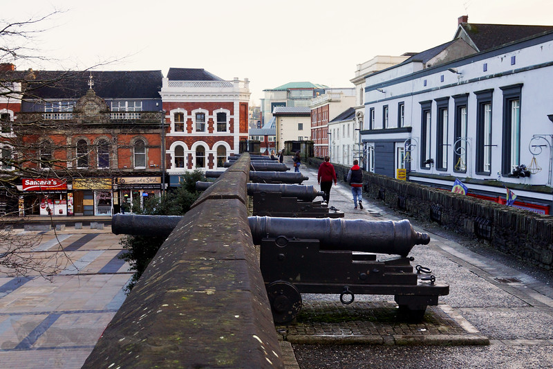 Cannons on Derry City Walls