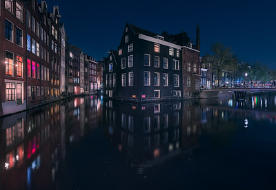 Blue color in the red light district