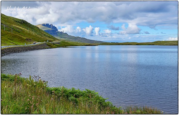 The Old Man of Storr, Portree. Seen across Loch Leathan