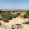 Panoraic view from the acropolis, where you can see part of the Odeon, a small marble theater that held ~800 spectators.