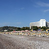 Beach + Rodos Palace Hotel panorama.