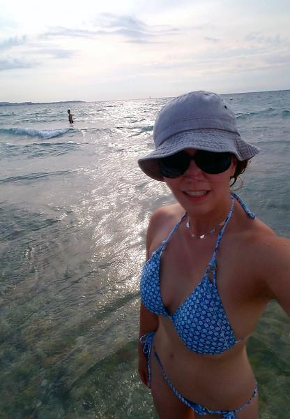 Post-conference swim in the Aegean Sea.