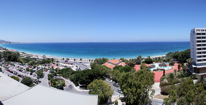 View of the Aegean Sea from my hotel room balcony.