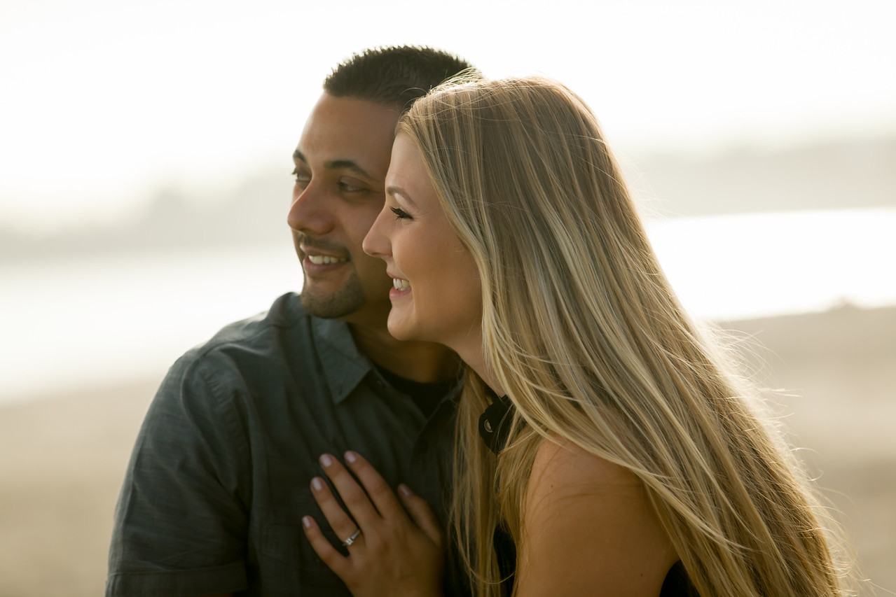 Engagement Photos at Seacliff Beach in Aptos California
