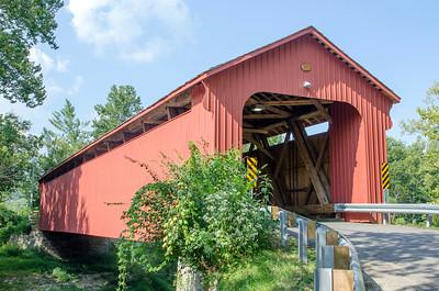 STONELICK COVERED BRIDGE SIDE VIEW