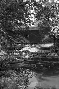 ROBERTS BRIDGE RIVER VIEW PORTRAIT B&W