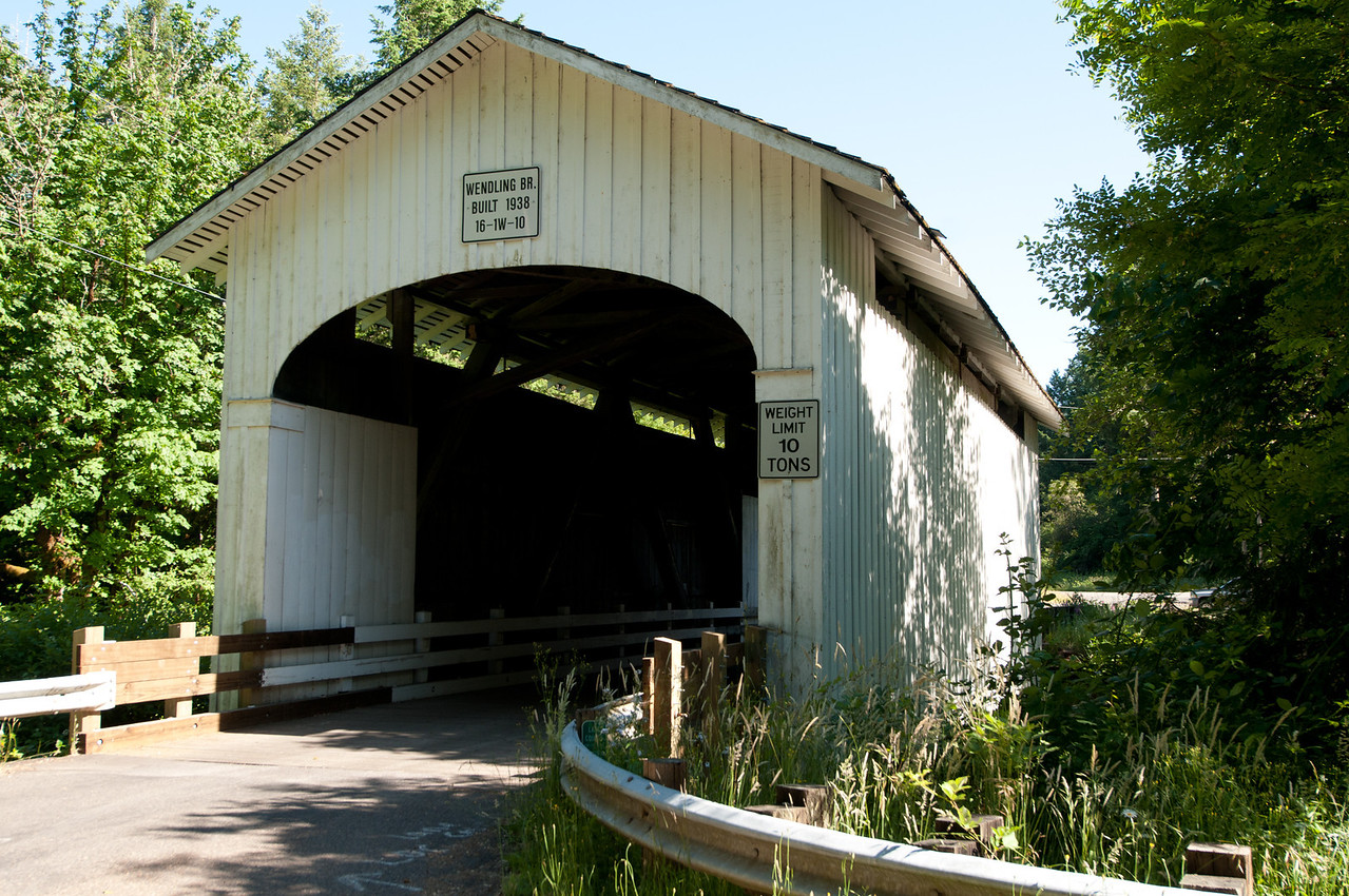 Wendling Covered Bridge 1. Take exit 188 from I-5 and drive east on Hwy 126. Take the Marcola exit and drive about 8 miles to Marcola. Turn right on Wendling Road and drive 2 miles to the bridge.