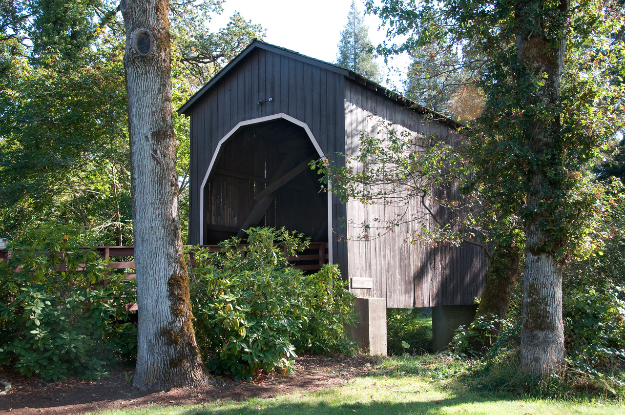 Passcreek Covered Bridge - Take HWY 38 to Drain, Oregon.