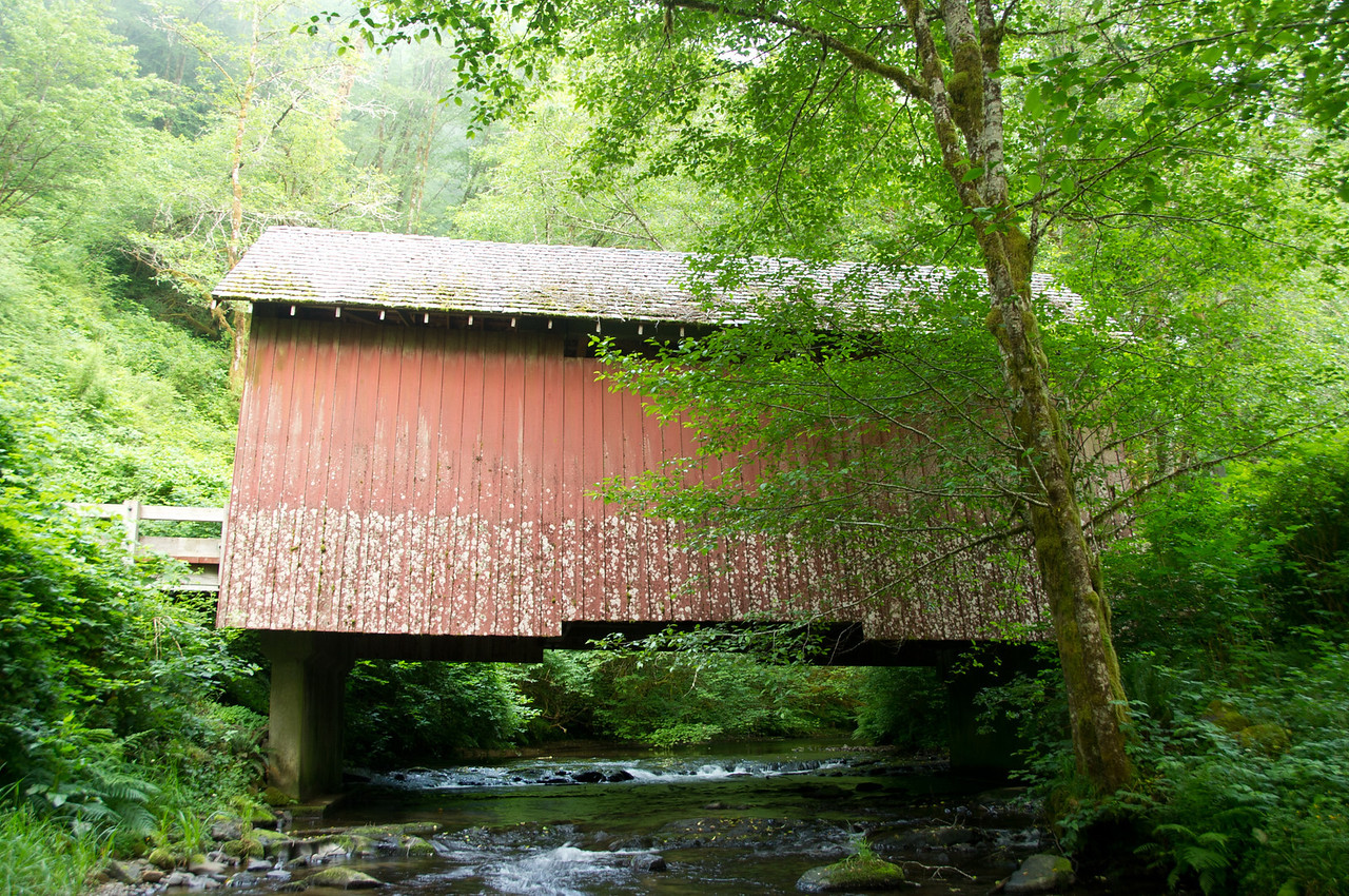 North Fork Yachats Covered Bridge - 2.
