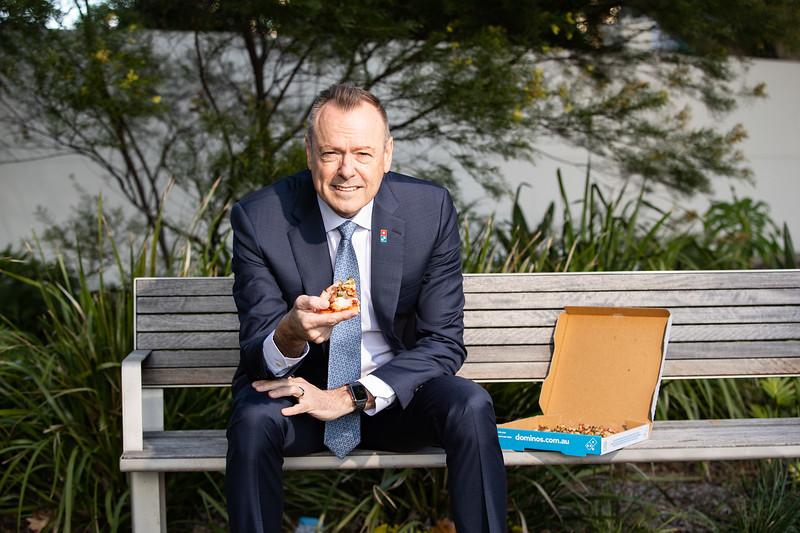 Don Meij - CEO Domino's, Brisbane 19 Aug 2020. Photo: Attila Csaszar