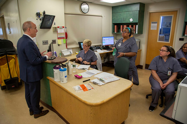 Photos inside Holy Name Medical Center in Teaneck, New Jersey, during the first few days of the COVID-19 Pandemic. 03/18/2020 Photos by Jeff Rhode  Mandatory photo credit, and please use only with permission from Jeff Rhode and Holy Name Medical Center. <br /> If you need ID's or detailed captions please call 201-543-8067 or email jrhode@holyname.org