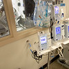 Modified wall inside the ICU of Holy Name Medical Center in Teaneck, New Jersey,  during the first few days of the COVID-19 Pandemic. 03/19/2020. Prior to this the nurses needed to don PPE to enter the patient room to tend to IV pumps-now they are relocated into the hallway. Photos by Jeff Rhode  Mandatory photo credit, and please use only with permission from Jeff Rhode and Holy Name Medical Center. <br /> If you need ID's or detailed captions please call 201-543-8067 or email jrhode@holyname.org