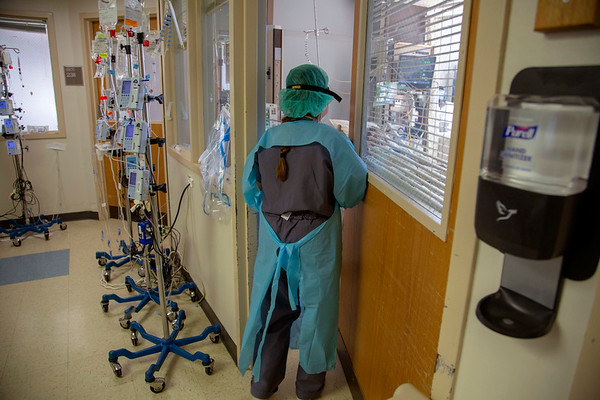 Photos at Holy Name Medical Center in Teaneck, New Jersey, during the first few days of the COVID-19 Pandemic.  03/24/2020  Photos by Jeff Rhode  Mandatory photo credit, and please use only with permission from Jeff Rhode and Holy Name Medical Center. <br /> If you need ID's or detailed captions please call 201-543-8067 or email jrhode@holyname.org
