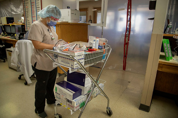 Holy Name Medical Center in Teaneck, New Jersey, during the first weeks of the COVID-19 Pandemic.  03/27/2020  Photos by Jeff Rhode  Mandatory photo credit, and please use only with permission from Jeff Rhode and Holy Name Medical Center. <br /> If you need ID's or detailed captions please call 201-543-8067 or email jrhode@holyname.org