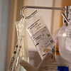 An experimental drug in hung in the Intensive Care Unit at Holy Name Medical Center in Teaneck, New Jersey, during the first weeks of the COVID-19 Pandemic.  03/25/2020  Photos by Jeff Rhode  Mandatory photo credit, and please use only with permission from Jeff Rhode and Holy Name Medical Center. <br /> If you need ID's or detailed captions please call 201-543-8067 or email jrhode@holyname.org