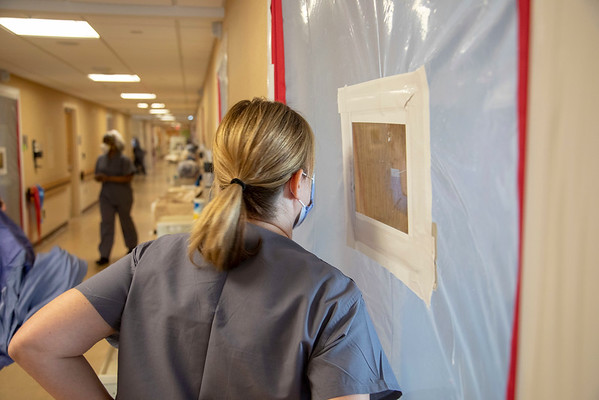 Photos during the first weeks of the COVID-19 Pandemic.  <br /> Lori VanBever.<br /> 03/31/2020  Photos by Jeff Rhode/Holy Name Medical Center.  Mandatory photo credit, and please use only with permission from Jeff Rhode and Holy Name Medical Center. <br /> If you need ID's or detailed captions please call 201-543-8067 or email jrhode@holyname.org