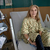 Louise Fango is discharged after 7 days in isolation for COVID-19. <br /> Holy Name Medical Center in Teaneck, New Jersey, during the first weeks of the COVID-19 Pandemic.  04/08/2020  Photos by Jeff Rhode  Mandatory photo credit, and please use only with permission from Jeff Rhode and Holy Name Medical Center. <br /> If you need ID's or detailed captions please call 201-543-8067 or email jrhode@holyname.org