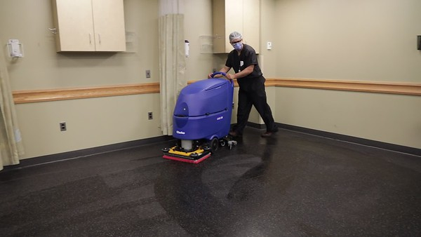 Holy Name Medical Center performed a top to bottom 5 step cleaning and decontamination on Saturday, May 2-Sunday, May 3, 2020. The cleaning included the Clorox 360 System disinfecting with Electrostatic Technology, and Ultra Violet sanitizing lights.<br /> <br /> 05/02/2020  Photos by Jeff Rhode/Holy Name Medical Center.