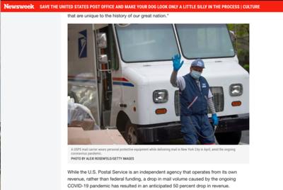 Newsweek- USPS PhotosScreen Shot 2020-04-27 at 1 51 37 PM