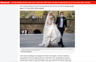 Newsweek April 30 wedding