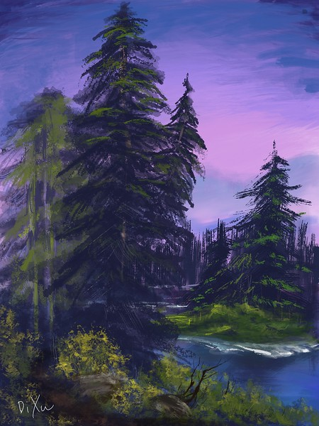 Bob Ross Trees (Di Xu)