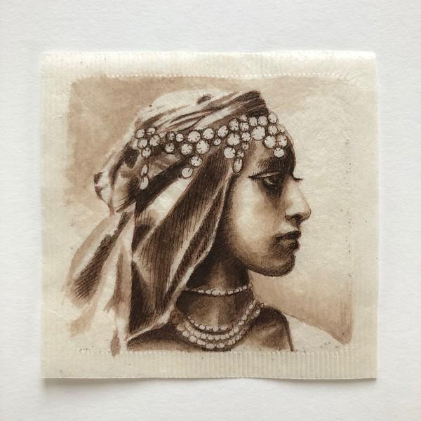Teabag portrait - Moroccan Princess (Katja Telp)