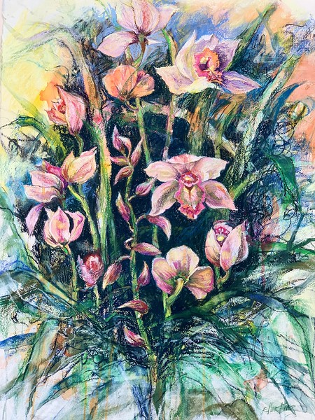 Cymbidiums Abound (Ellen King)