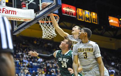 Cal Poly Men's Basketball vs California. Nov. 27, 2014. Photo by Ian Billings