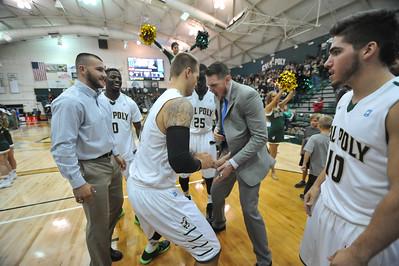 Cal Poly Men's Basketball vs Delaware. The Mustangs won 78-60.  Nov. 21, 2014. Photo by Ian Billings