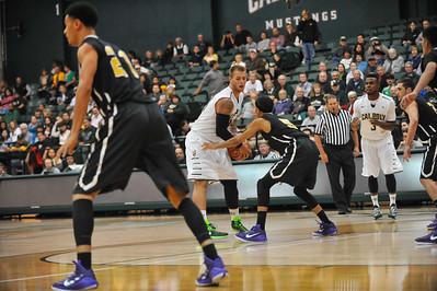 Cal Poly Men's Basketball vs San Francisco. The Mustangs won 65-44. Nov. 18, 2014. Photo by Ian Billings