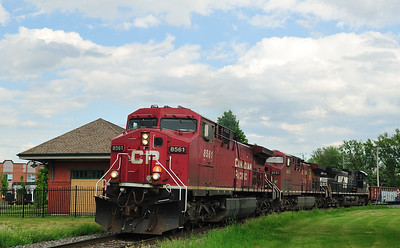 Canadian National #529, St-Jean-sur-Richelieu, Quebec June 6 2016.