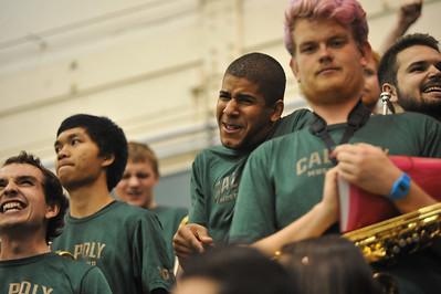 Pep Band A during a Men's Basketball game vs Hawai'i.  Feb. 5, 2015. Photo by Ian Billings