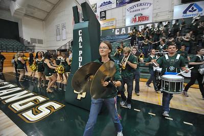 The Mustang B Band performs during a  Men's Basketball game vs San Francisco. Nov. 18, 2014. Photo by Ian Billings