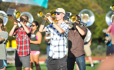 Marching Band Rehearsal. Oct. 2, 2014. Photo by Ian Billings