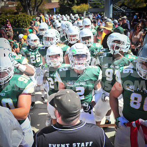 GREAT WIN for the @Calpoly_Football team today. It was hot on the sidelines and I tapped out in the 4th qtr.. Sorry i didn't stay for the whole thing. Missed a great 4th qtr...  Got the 2nd wind now and heading back for @calpolyvolleyl!! Lets Go Mustangs!!