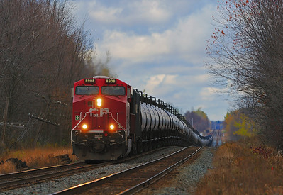 Canadian Pacific #608,  Winchester Subdivision, Oct 29 2013