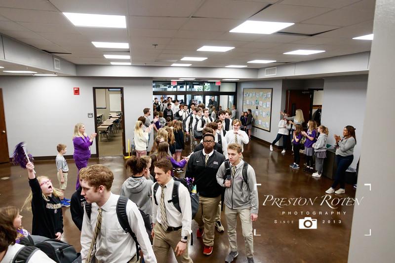 CPA Varsity Basketball 2018-19 - State Lion Walk