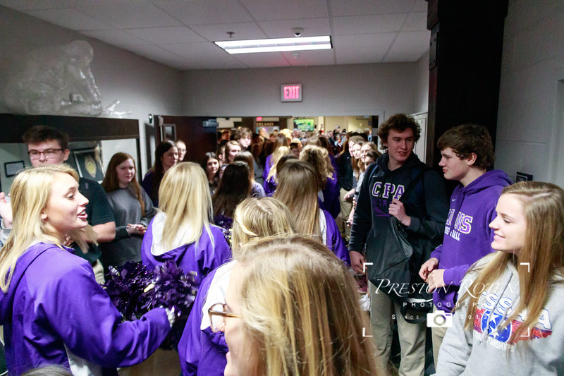 CPA Varsity Basketball 2018-19 - State Lion Walk