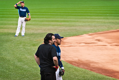 Dr. Sargon B. Odisho, Owner/CEO of the Chicago FIX, Team Physician and Sargeant Eric Diaz, Chicago Police Baseball Team Chicago, Illinois