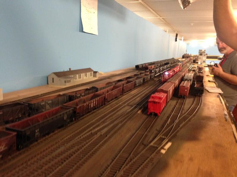 RIck Moser runs the CP&S train on Bob's IC through De Quoin, Ill.