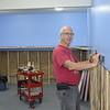 Rick Schroeder installing mainline benchwork south of Farmersville