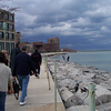 walking along Lake Michigan inspecting Loyola campus