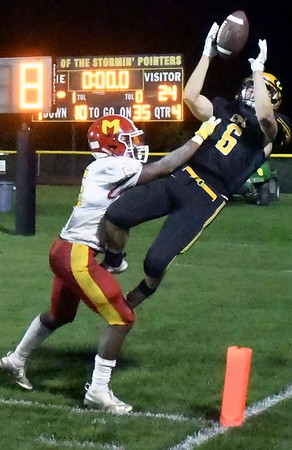CPU-Marion High School football; Stormin' Pointers lose to Indians, 24-21