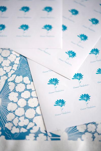 Paper and fabric in textile designers' Birmingham work studio, England, UK