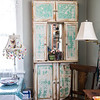 """The """"Glitter Station"""" its a skinny built in from an old kitchen. Sarah L Howard Photography"""
