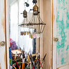 "The ""Glitter Station"" its a skinny built in from an old kitchen. Sarah L Howard Photography"