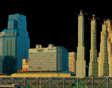 One Kansas City Place & Bartle Hall Pylons