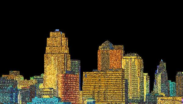 Kansas City Skyline - North Looking